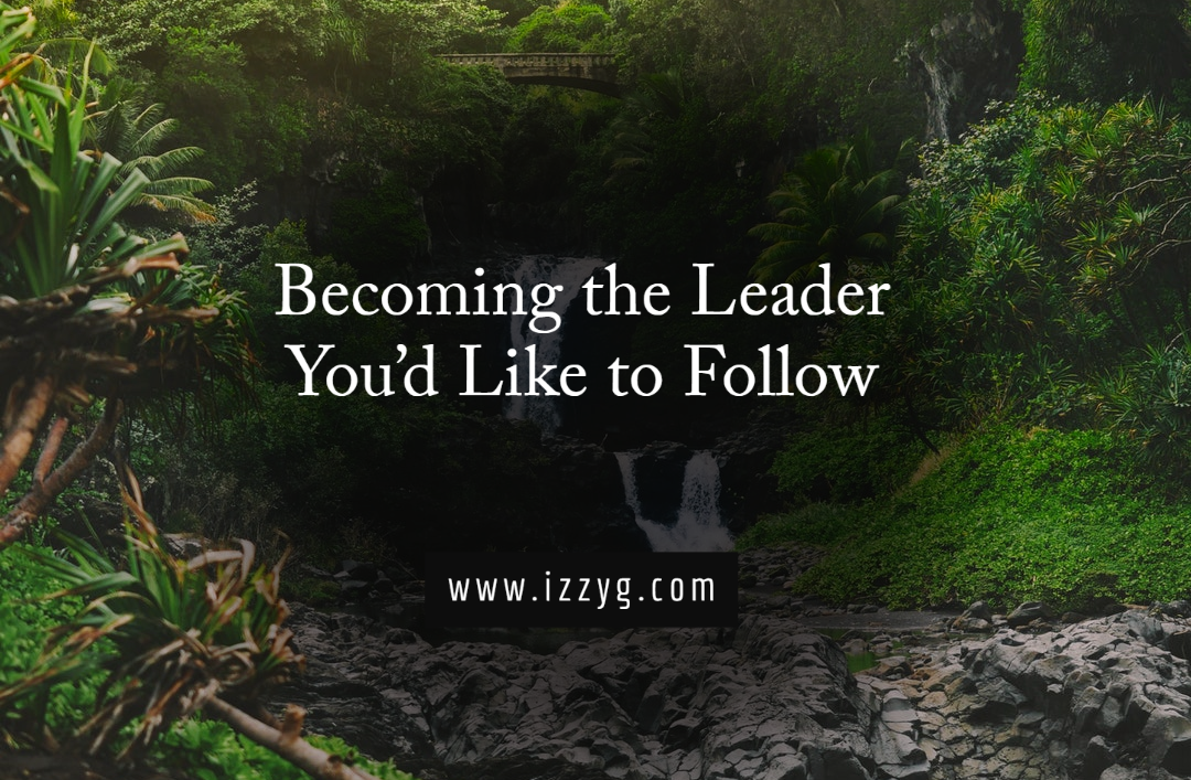 Becoming the Leader You'd Like to Follow